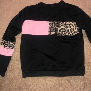 Long sleeve cheetah print shirt